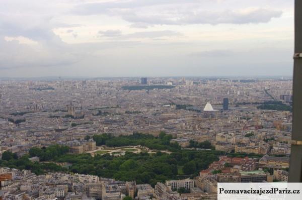 Lucemburske zahrady pohled z Tour Montparnasse
