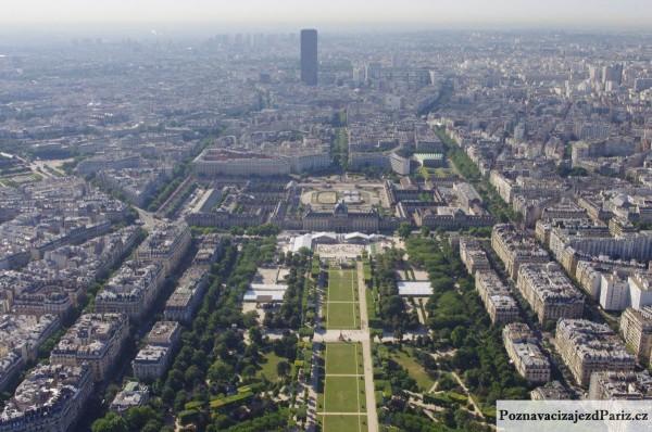 pohled z Eiffelové věže